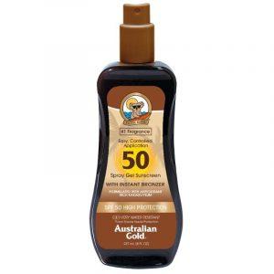 Australian Gold Instant Bronzer - Spray Gel Spf50
