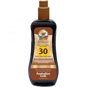 Australian Gold Instant Bronzer - Spray Gel Spf30