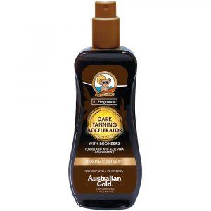 Australian Gold Dark Tanning Accelerator - Spray Gel with Bronzers